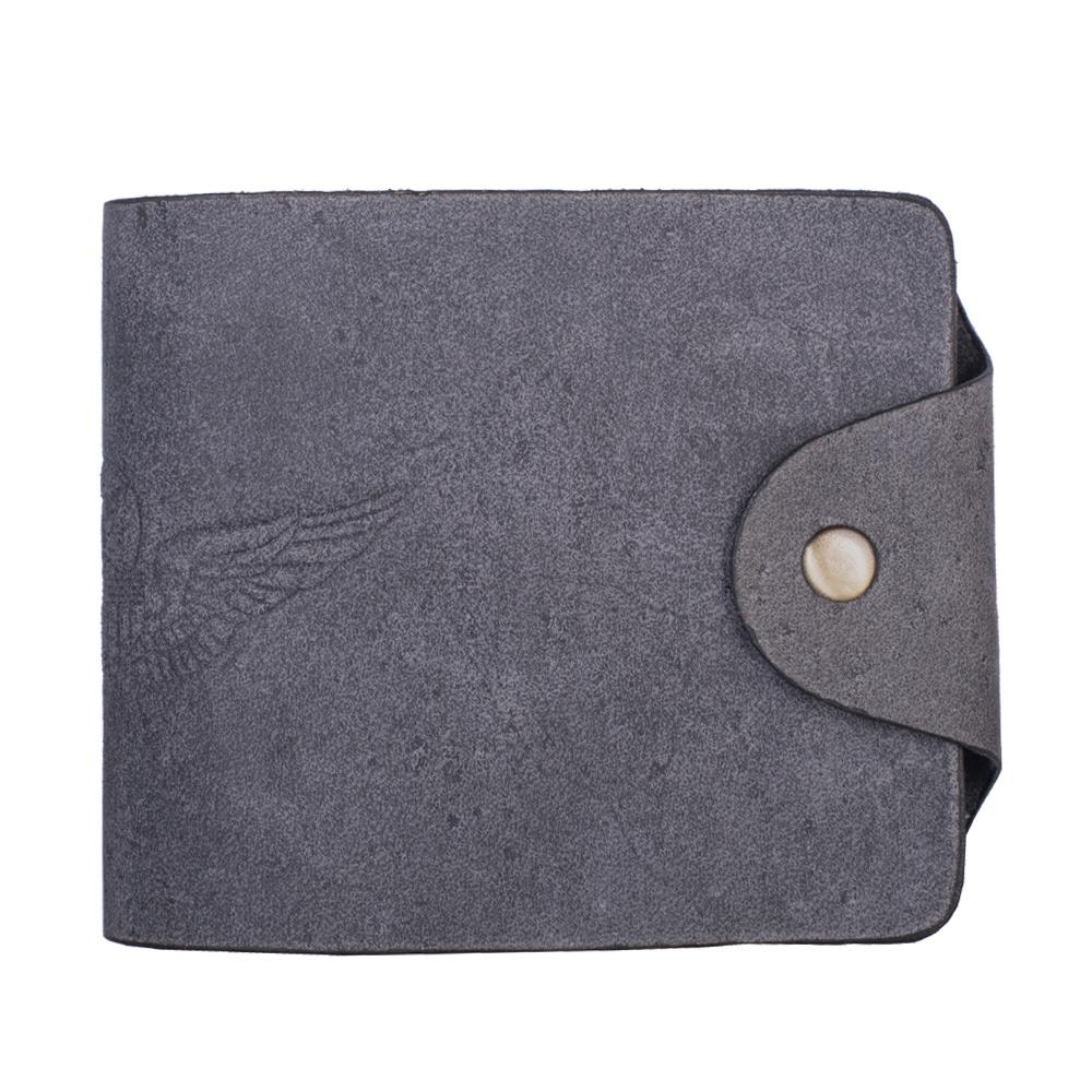 Hidegear Men's Vintage Leather Biker Wallet ,WLGYDU2013H Grey