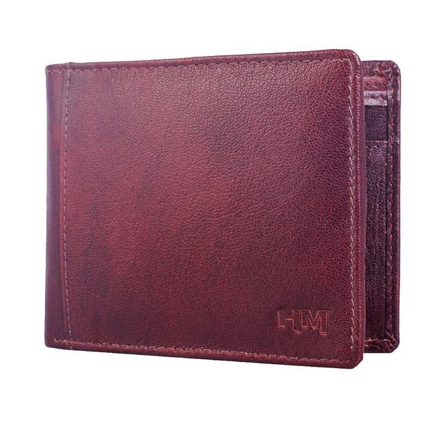 Hidemaxx Men's Leather Wallet ,WLBRDU1038X Brown