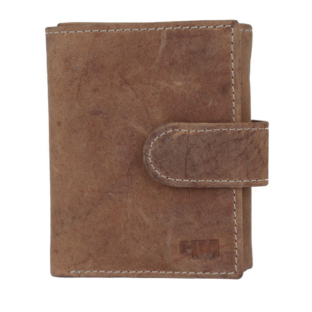 Hidemaxx Men's Vintage Leather Wallet, TRTNDU0709X Tan