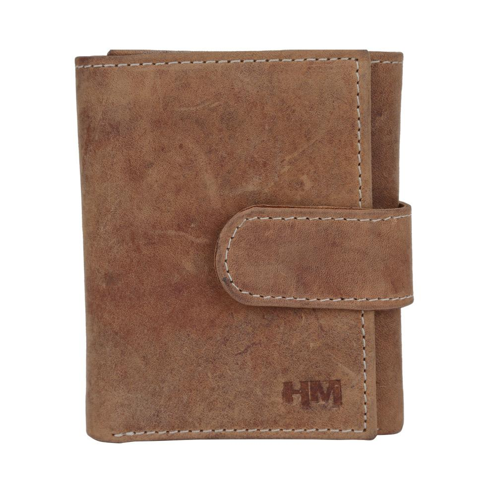 Hidemaxx Men's Vintage Leather Wallet, TRTNDU0708X Tan