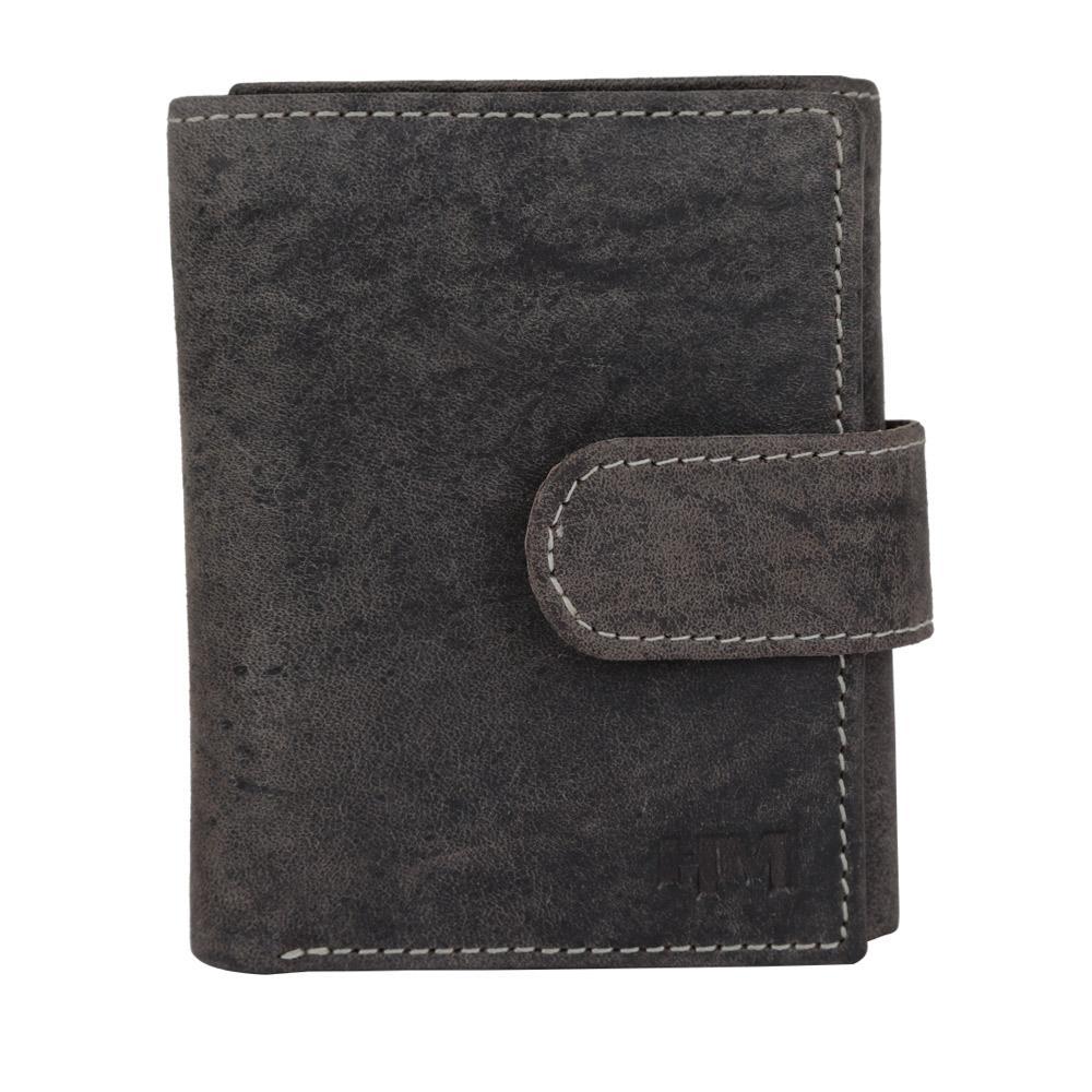 Hidemaxx Men's Vintage Leather Wallet, TRCBDU0708X Coffee Brown