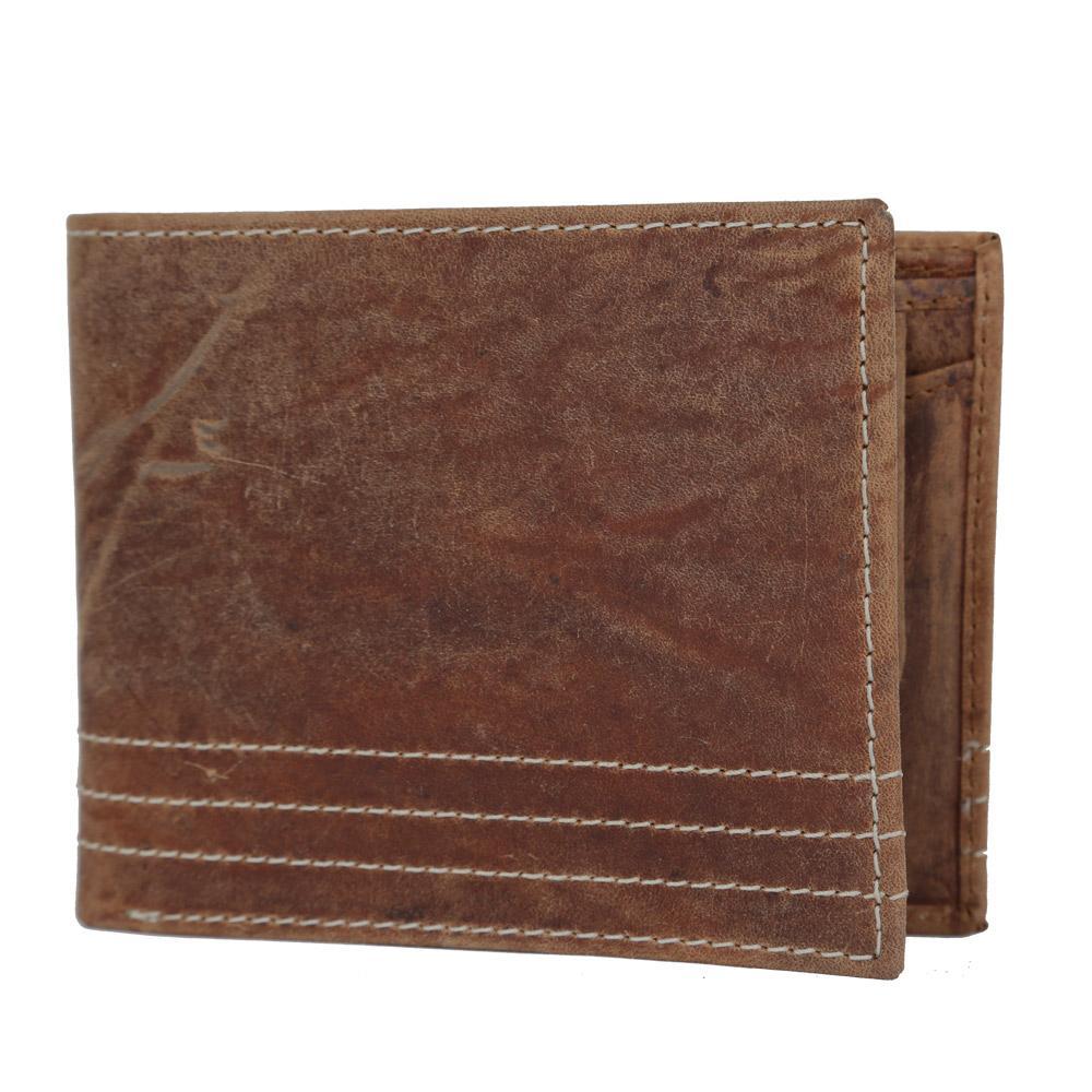 Hidemaxx Men's Vintage Leather Wallet, WLTNDU0701X Tan