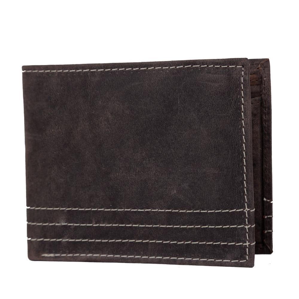 Hidemaxx Men's Vintage Leather Wallet, WLBRDU0701X Brown