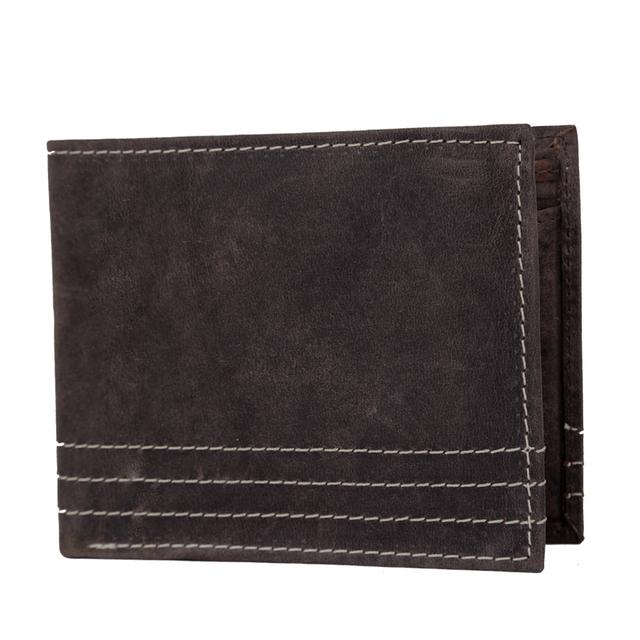 Hidemaxx Men's Vintage Leather Wallet, WLBRDU0701X Brown