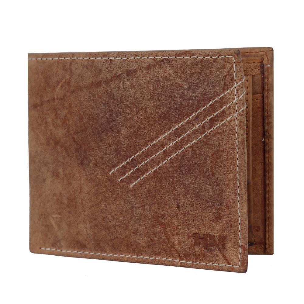 Hidemaxx Men's Vintage Leather Wallet, WLTNDU0706X Tan