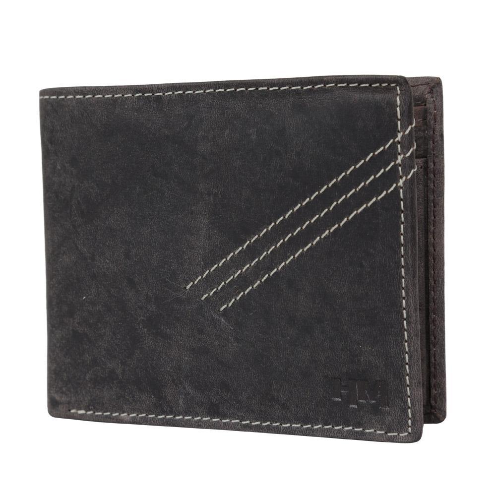 Hidemaxx Men's Vintage Leather Wallet, WLCBDU0706X Brown