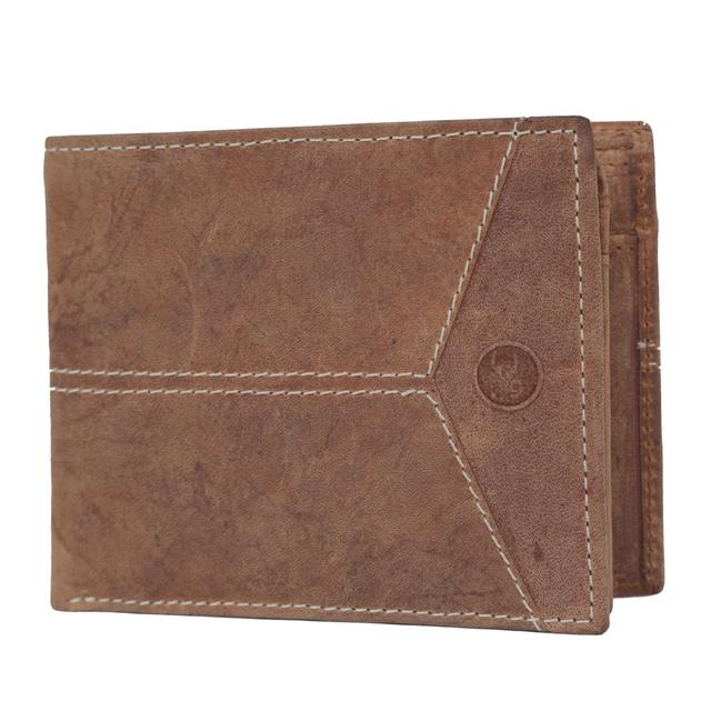 Hidegear Men's Vintage Leather Wallet, WLTNDU0703 Tan