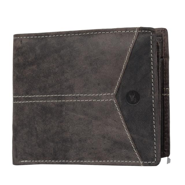 Hidegear Men's Vintage Leather Wallet, WLCBDU0703 Brown