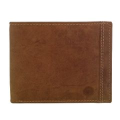 Hidekraft Men's Vintage Leather Wallet, WLTNDU0705 Tan