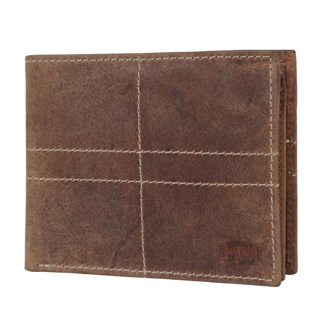 Hidemaxx Men's Vintage Leather Wallet, WLTNDU0704X Tan