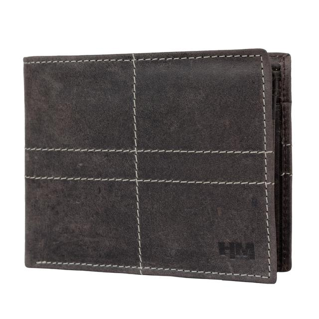 Hidemaxx Men's Vintage Leather Wallet, WLCBDU0704X Brown