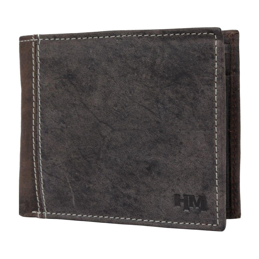 Hidemaxx Men's Vintage Leather Wallet, WLCBDU0707X Brown
