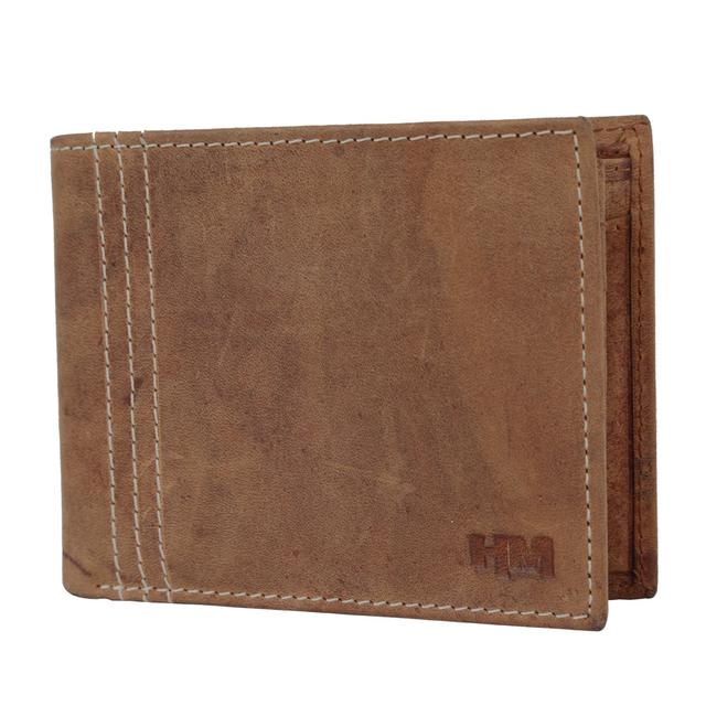 Hidemaxx Men's Vintage Leather Wallet, WLTNDU0702X Tan