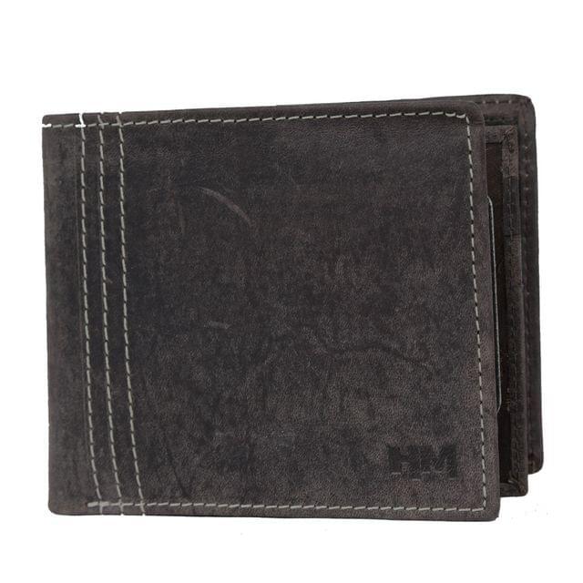 Hidemaxx Men's Vintage Leather Wallet, WLCBDU0702X Brown