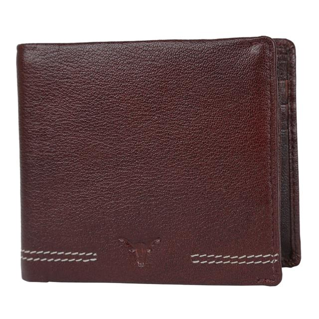 Hidekraft Men's Leather wallet, WLBRDU0346 Brown