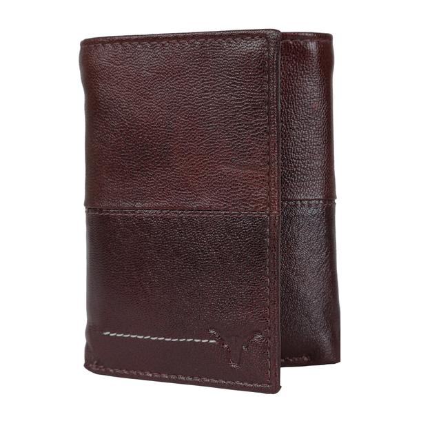 Hidekraft Men Leather Trifold Wallet ,TRBBPU1112 Brown