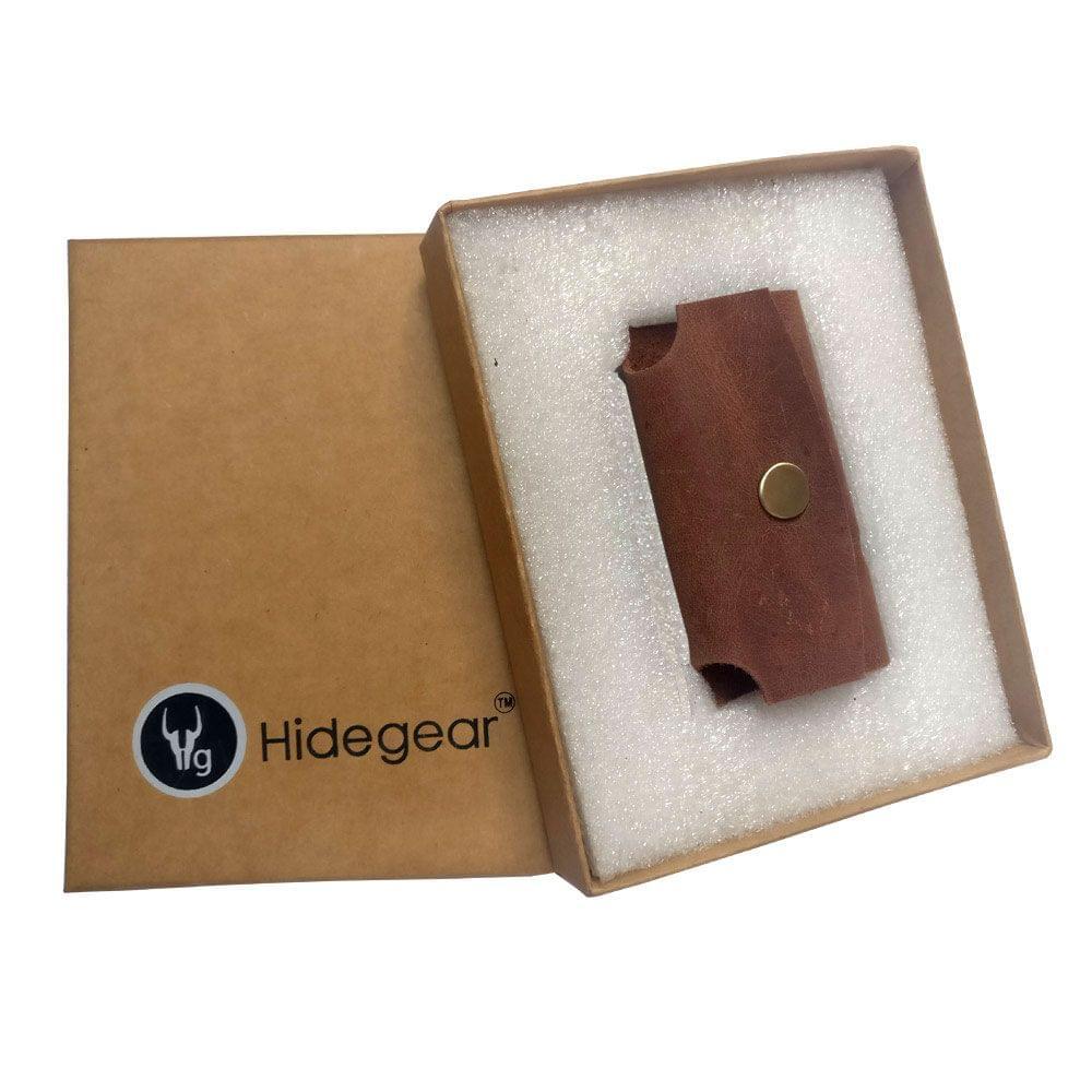 Hidegear Leather Earphone Holders , HGEHTN0201 Tan