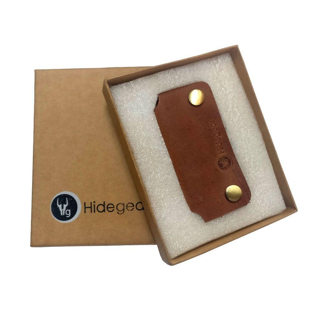 Hidegear Leather Earphone/USB Cord Holders ,HGEHTN0202 Tan