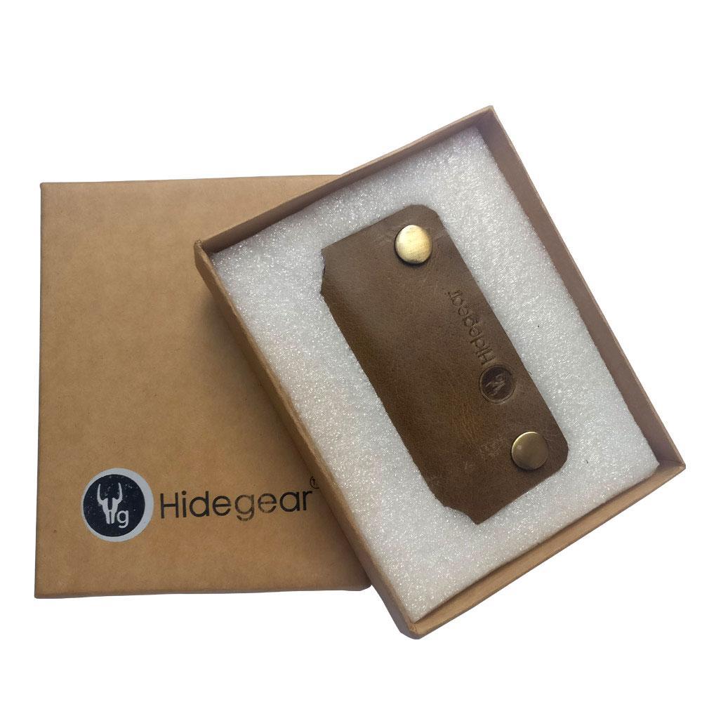 Hidegear Leather Earphone/USB Cord Holders ,HGEHOL0202 Olive