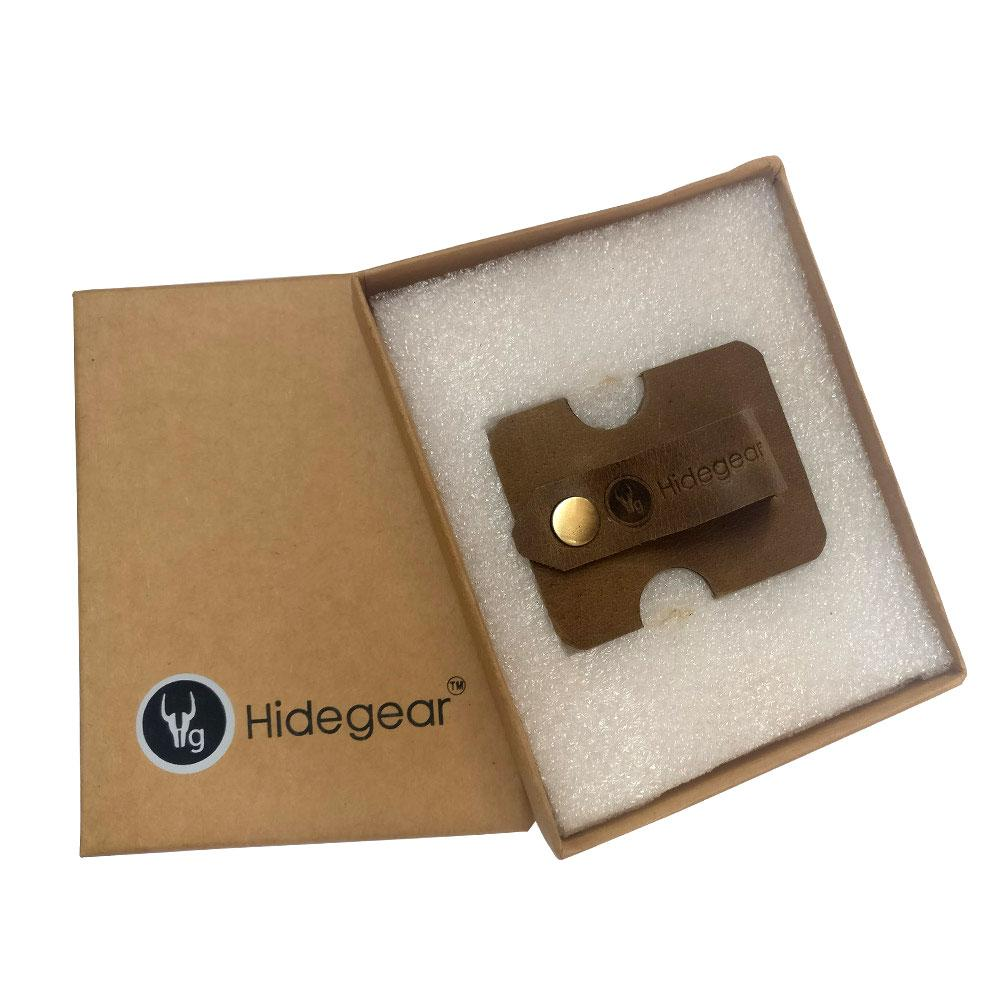 Hidegear Leather Earphone/USB Cord Holders ,HGUBOL0203 Olive