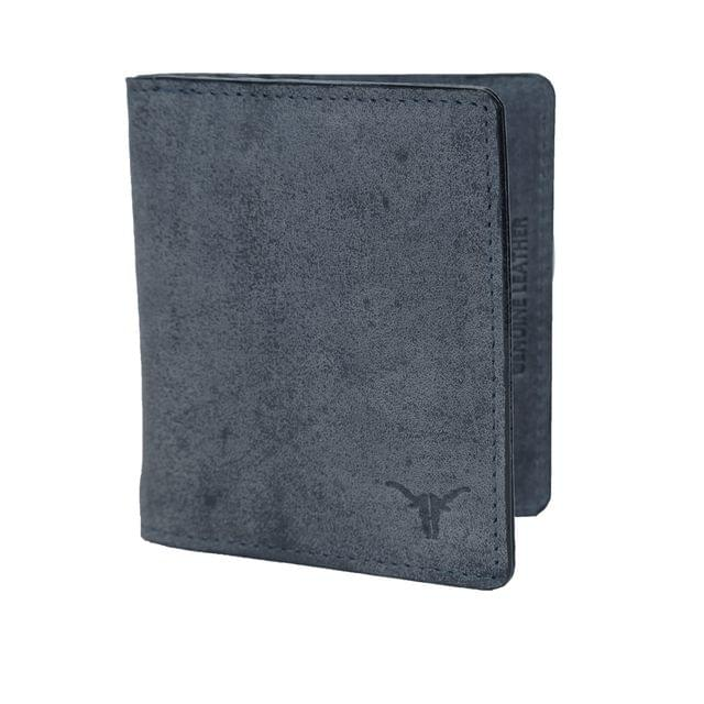 Hidekraft Men's Vintage Leather Moneyclip, MCNVPU1156 Navy