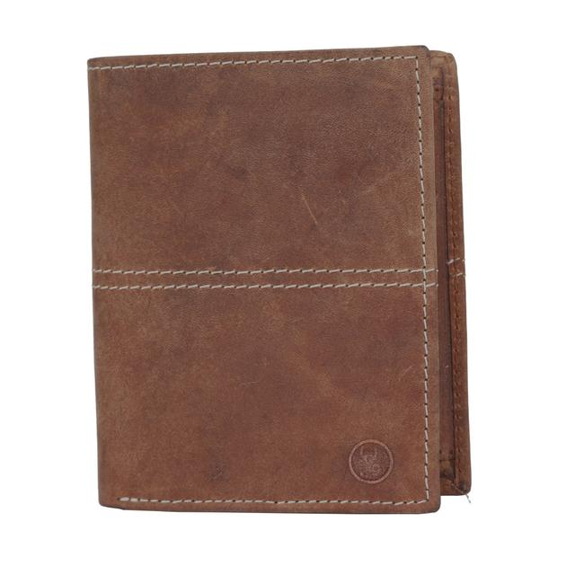 Hidegear Men's Vintage Genuine Leather Wallet, NBTNDU0710H Tan