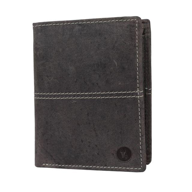 Hidegear Men's Vintage Genuine Leather Wallet, NBCBDU0710H Coffee