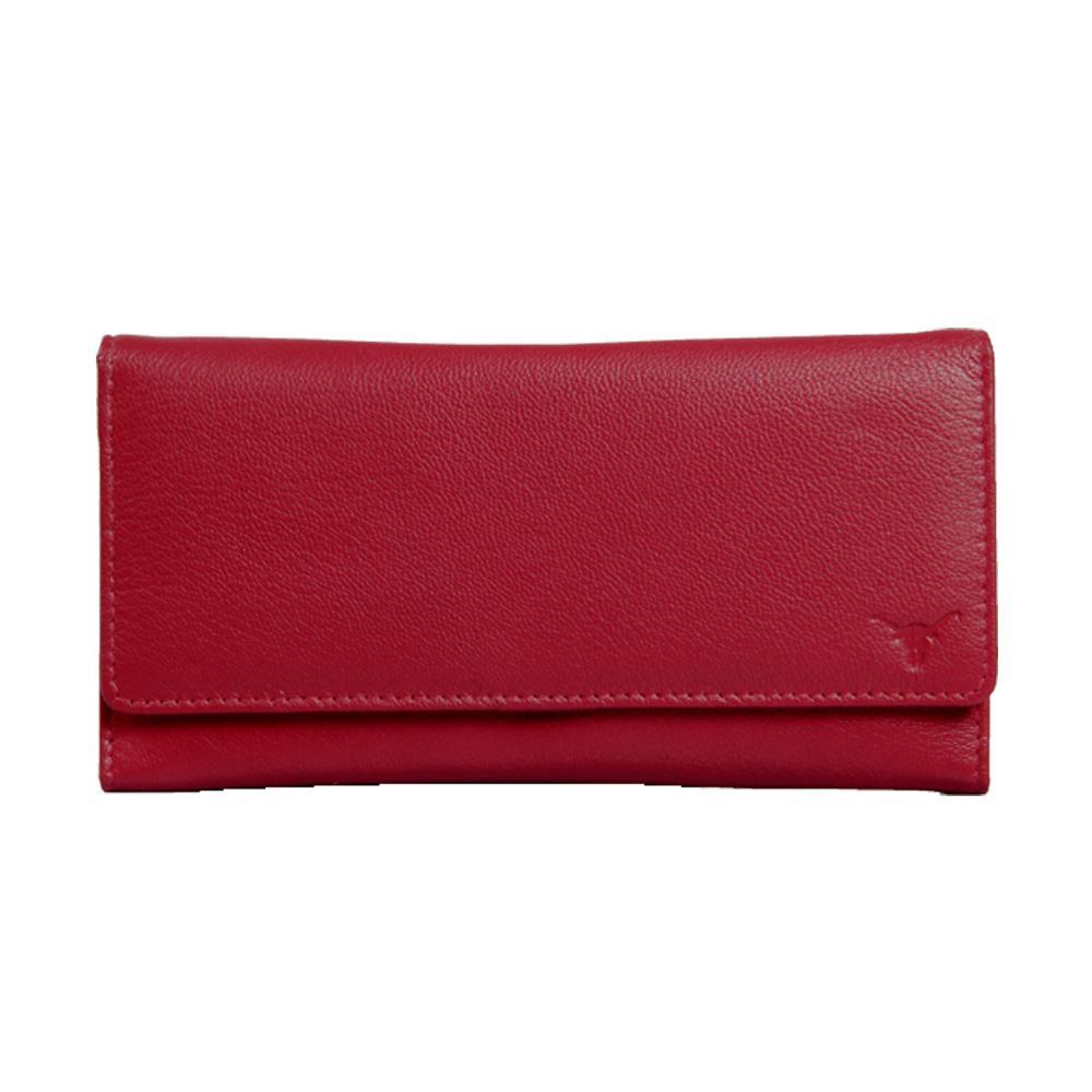 Hidekraft Women's Genuine Leather Wallet ,LDRDPU0510 Red
