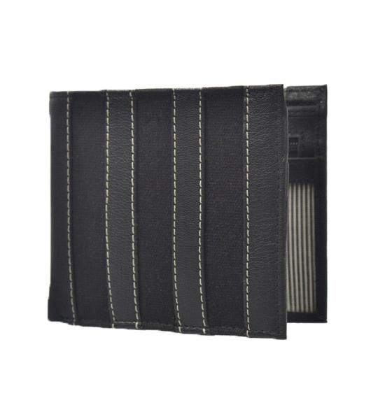 Hidekraft Canvas Leather Men's Black Wallet, WLBLDU1154