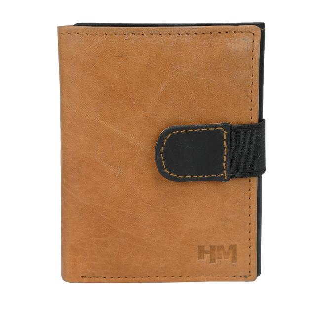 Hidemaxx Mens Leather Trifold Wallet ,TRTNDU0720X Tan