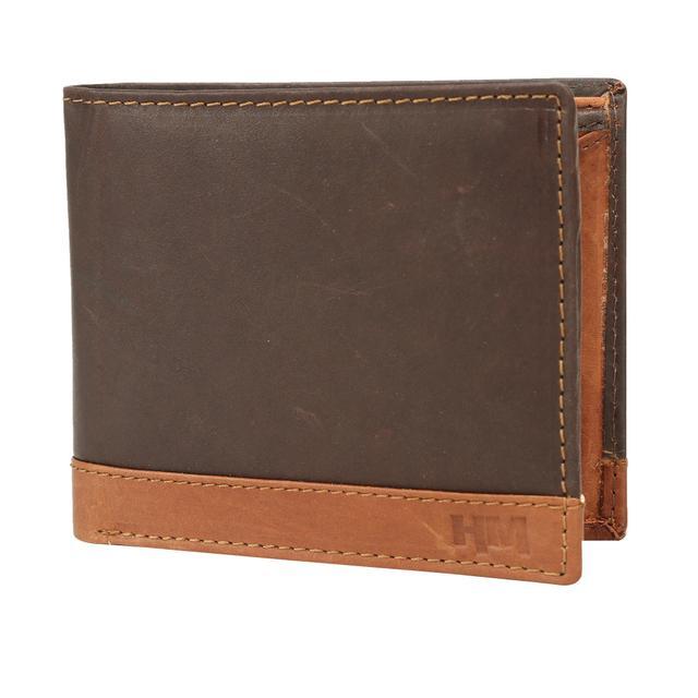Hidemaxx Mens Leather Wallet ,WLCTDU0725X Cherry