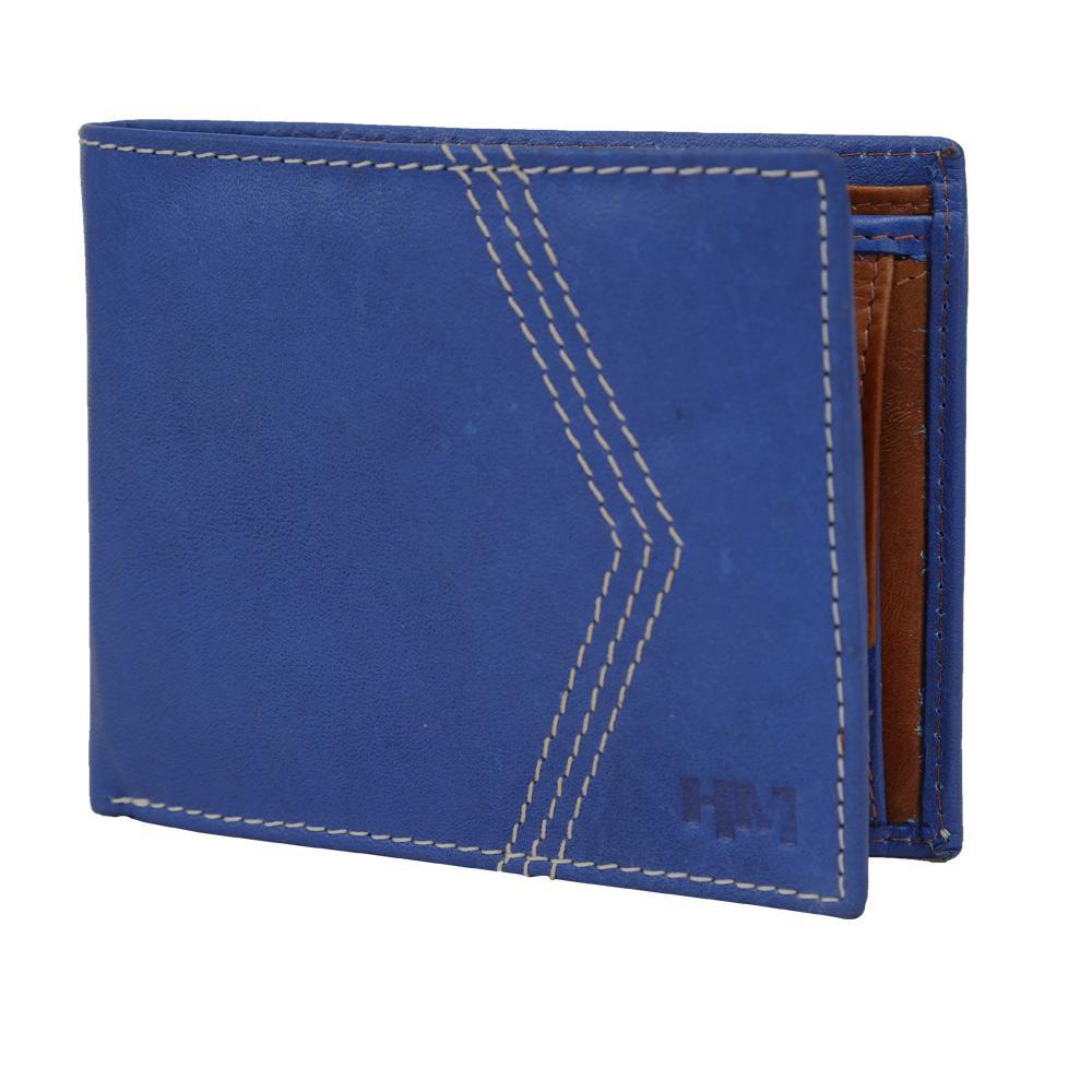 Hidemaxx Mens Leather Wallet ,WLINDU0731X Indigo