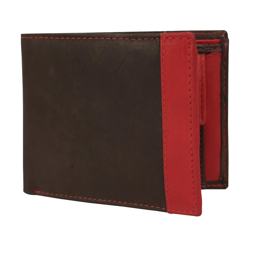 Hidemaxx Mens Leather Wallet ,WLBLDU0732X Brown