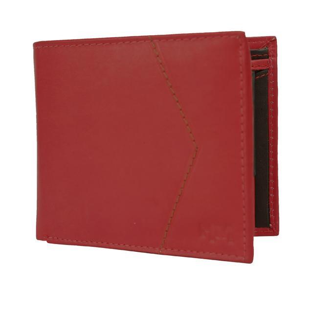 Hidemaxx Mens Leather Wallet ,WLRDDU0728X Red