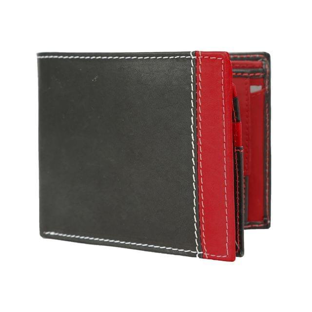 Hidemaxx Men's Leather Wallet, WLBLDU0735X Black