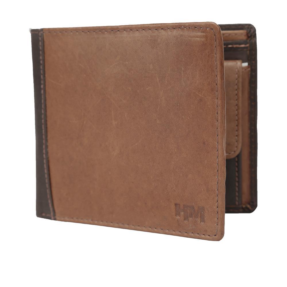 Hidemaxx Mens Leather Wallet ,WLTBDU0722X Tan/Brown