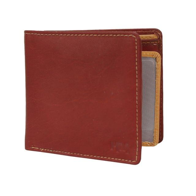 Hidemaxx Mens Leather Wallet, WLCHPU0727X Cherry