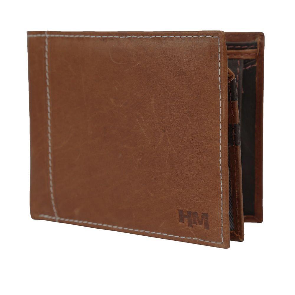 Hidemaxx Mens Leather Wallet ,WLTNDU0736X Tan