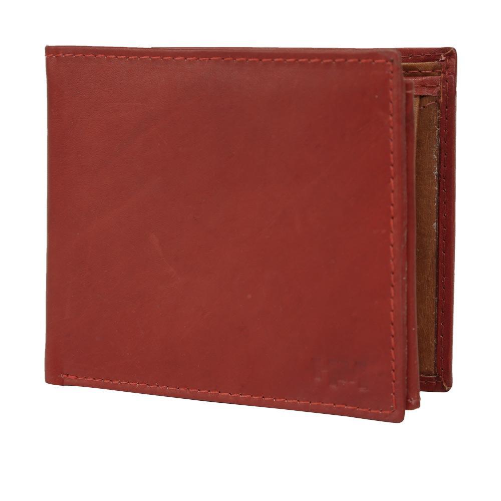 Hidemaxx Mens Leather Wallet ,WLCHPU0729X Cherry