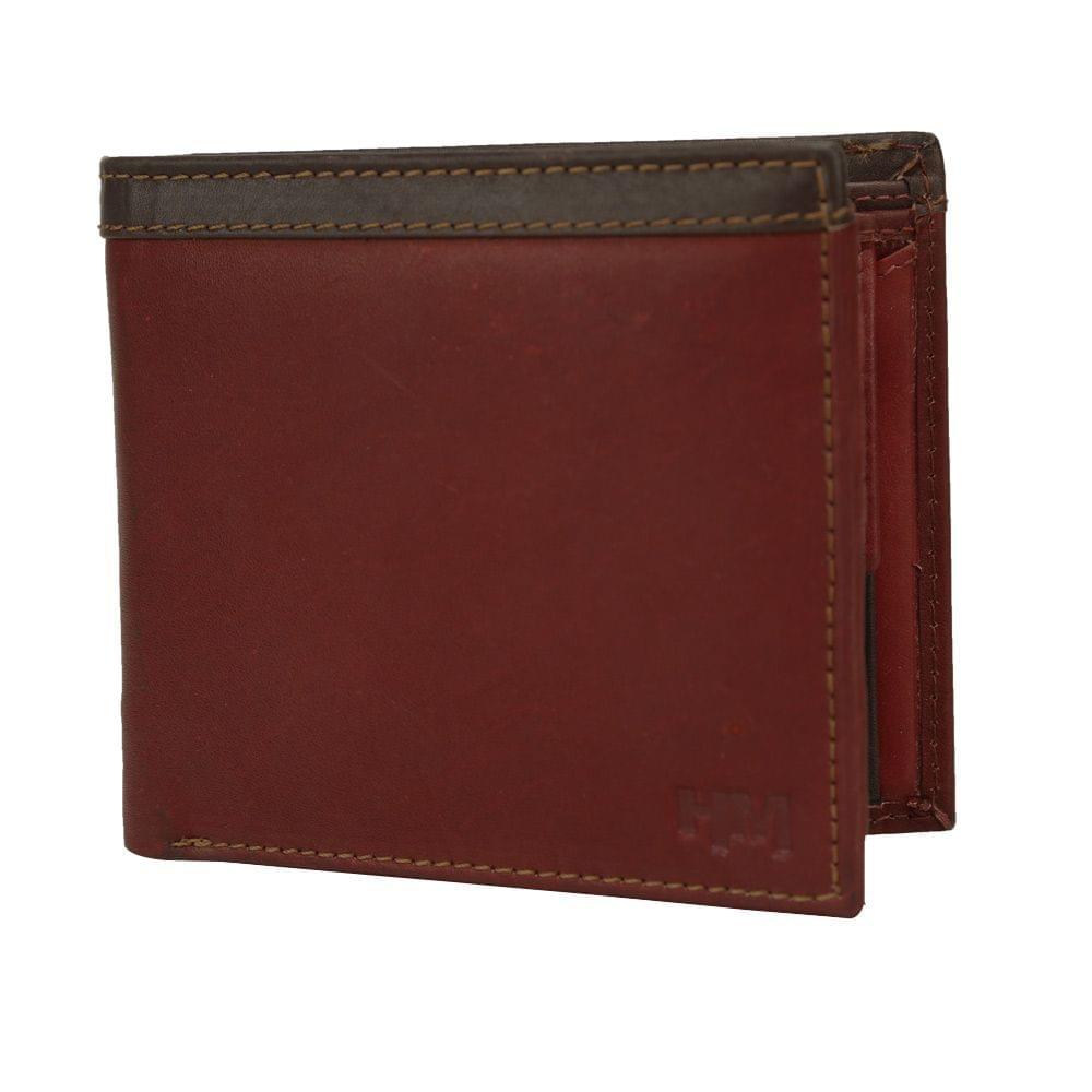 Hidemaxx Mens Leather Wallet ,WLCHDU0737X Cherry