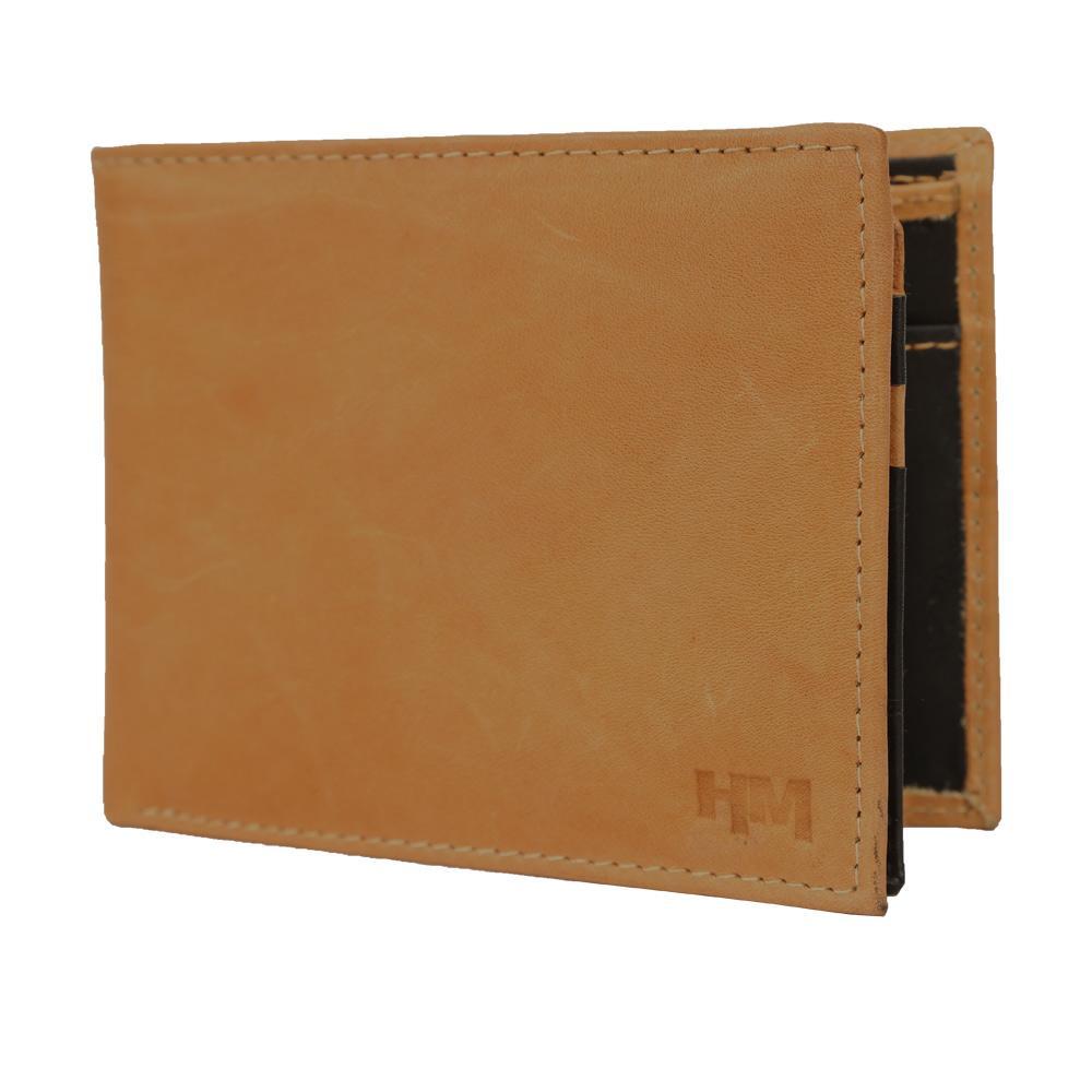 Hidemaxx Mens Leather Wallet, WLTNPU0724X Tan