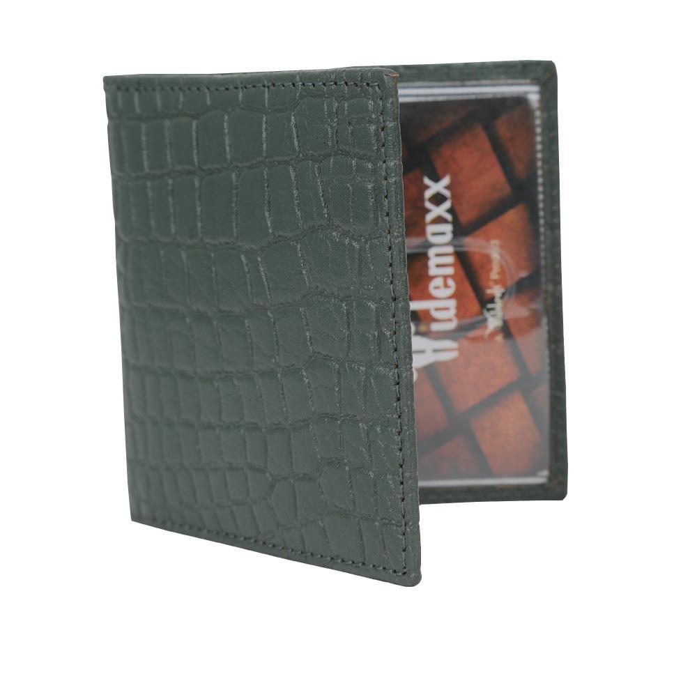 Hidemaxx Genuine Leather Card Holder, CHBGPU0039X, Bottle green