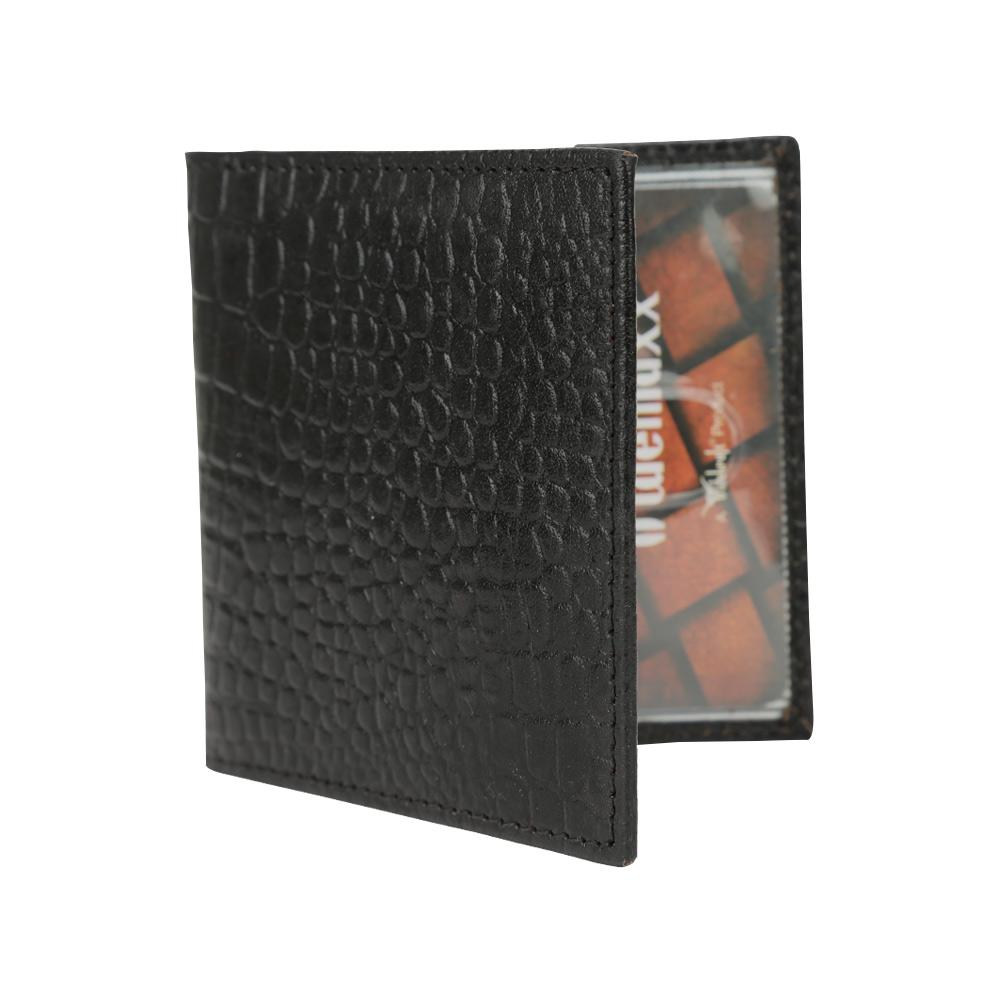 Hidemaxx Genuine Leather Card Holder, CHBLPU0039X, Black