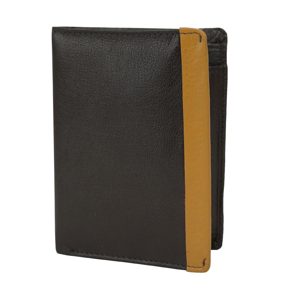 Hidekraft Leather Wallets For Men , NBBRDU1371 Brown