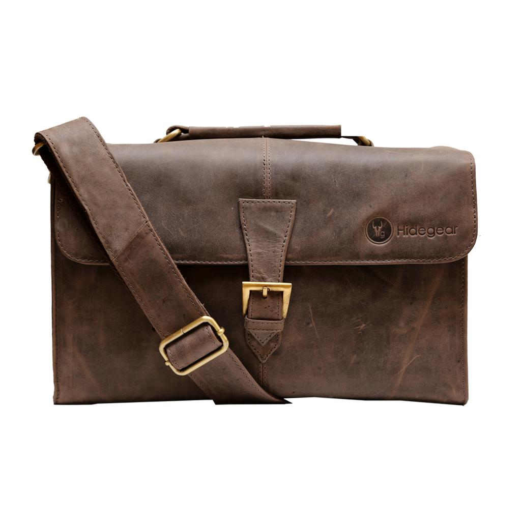 Hidegear Genuine Leather Camera Bag,HGBRCB0233 Brown