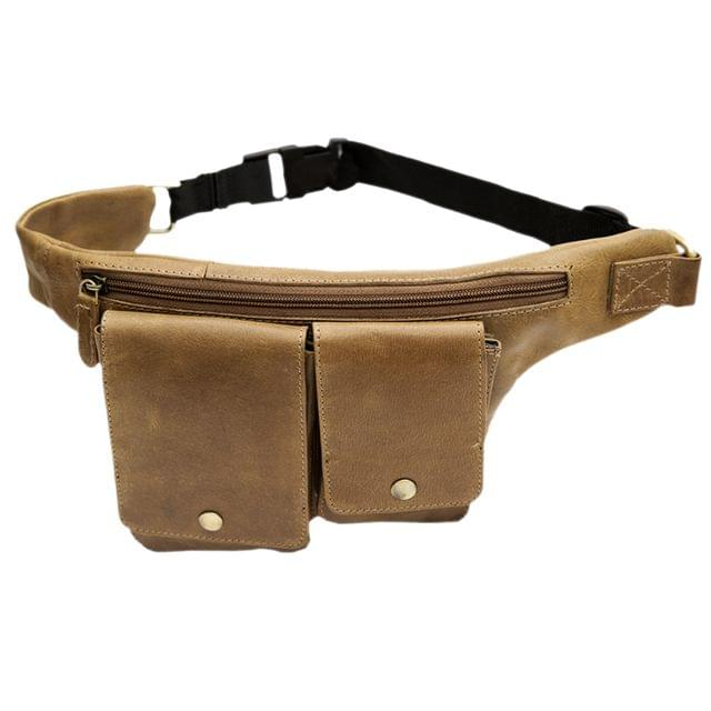 Hidegear Genuine Leather Bumbag/Waist Pouch,HGOLTP0234 Olive