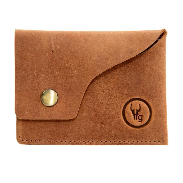 Hidegear Leather Card Holder ,CHTNPU2024H Tan