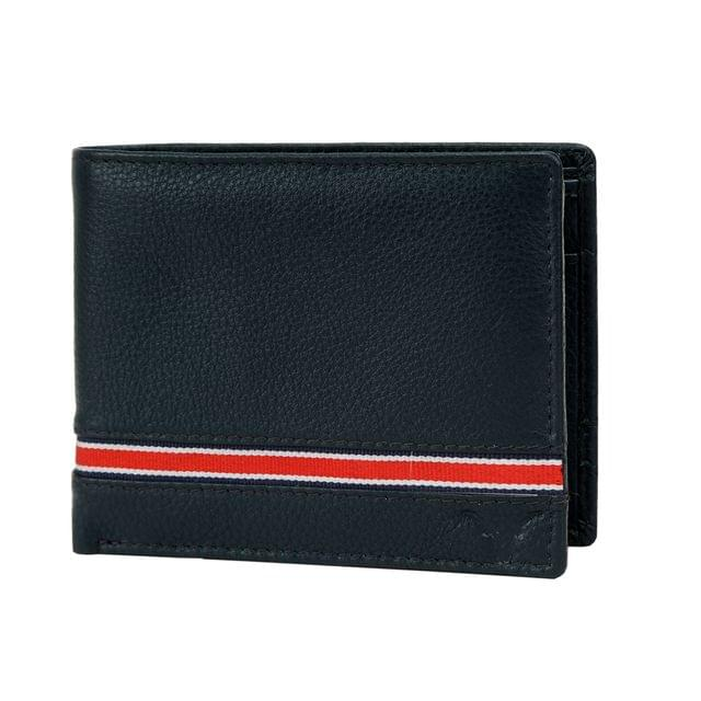 Hidekraft Leather Wallets For Men , WLNVDU1142G Navy