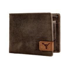 Hidekraft Leather Wallets For Men , WLBRDU1068G Brown