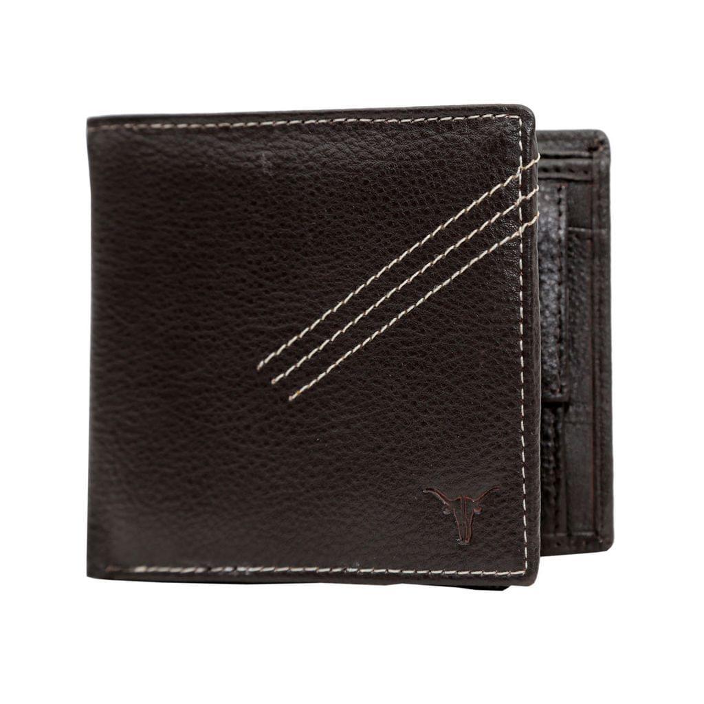 Hidekraft Leather Wallets For Men , WLBRDU1706 Brown